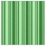 [ Thumbnail: Green & Dark Green Lines/Stripes Pattern Fabric ]