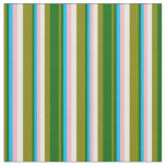 [ Thumbnail: Green, Dark Green, Sky Blue, Light Pink & White Fabric ]