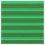 [ Thumbnail: Green & Dark Green Striped/Lined Pattern Fabric ]