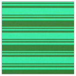 [ Thumbnail: Green & Dark Green Striped Pattern Fabric ]