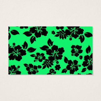 Green Dark Hawaiian Business Card