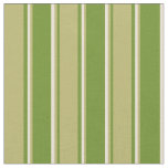 [ Thumbnail: Green, Dark Khaki, and Bisque Lines Pattern Fabric ]