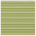 [ Thumbnail: Green & Dark Khaki Colored Striped/Lined Pattern Fabric ]