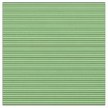 [ Thumbnail: Green & Dark Olive Green Colored Stripes Fabric ]