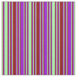[ Thumbnail: Green, Dark Red, and Dark Violet Colored Pattern Fabric ]