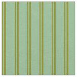 [ Thumbnail: Green & Dark Sea Green Lines Fabric ]