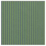 [ Thumbnail: Green & Dark Slate Gray Colored Lines Fabric ]