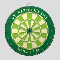 Green Dartboard with custom text