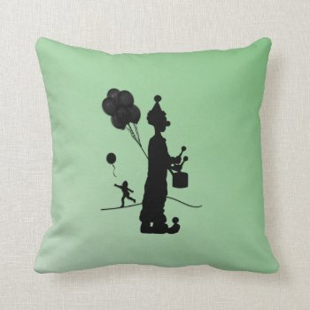 Green Days Parade Throw Pillow