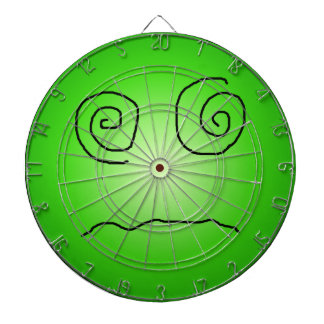 Green Dazed and Confused Smiley Dartboard With Darts