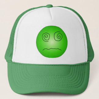 Green Dazed and Confused Smiley Trucker Hat