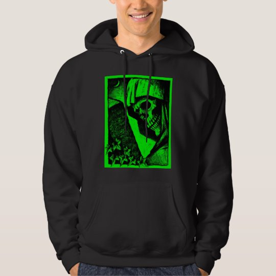 Green Death Head Halloween T-Shirt Hoodie