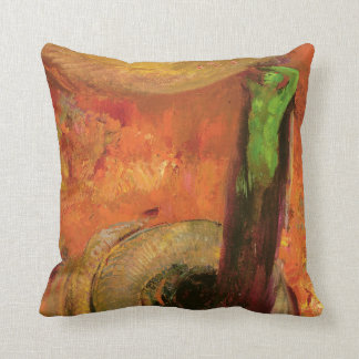 Green Death Throw Pillow