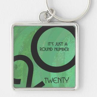 Green Decade 20th Birthday Keychain