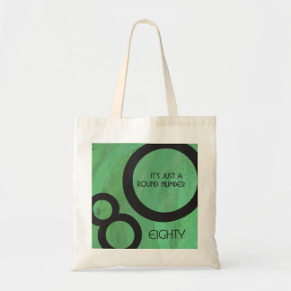 Green Decade 80th Birthday Tote Bag