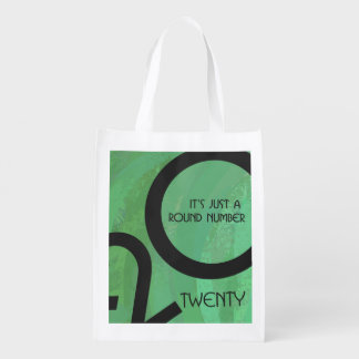 Green Decade Birthdday Reusable Grocery Bag