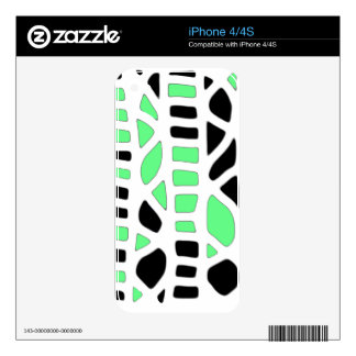 Green decor decals for iPhone 4S