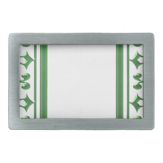 GREEN Decorative Border : Think multi uses Belt Buckle