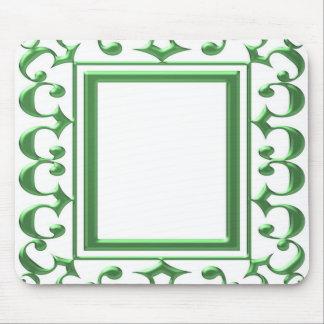 GREEN Decorative Border Think multi uses Mousepads