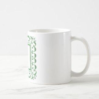GREEN Decorative Border : Think multi uses Coffee Mug