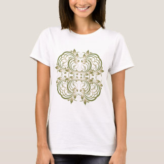 green decorative floral pattern T-Shirt
