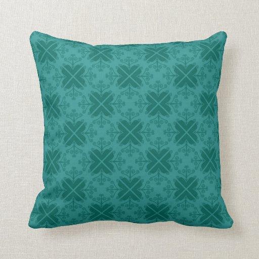 Green Geometric Throw Pillow : Green Decorative Geometric Pattern Throw Pillows Zazzle