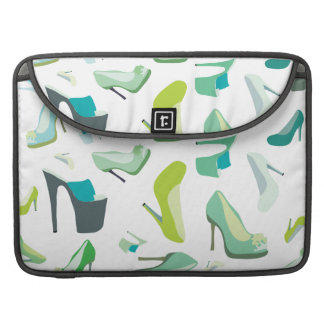 Green decorative shoe sleeves for Macbook Pro