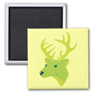 Green Deer Fridge Magnet