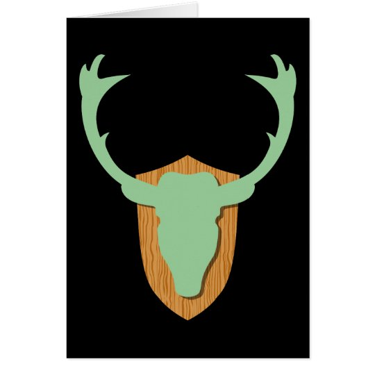 Green Deer Head Card