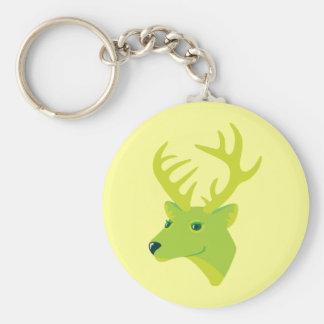 Green Deer Key Chain