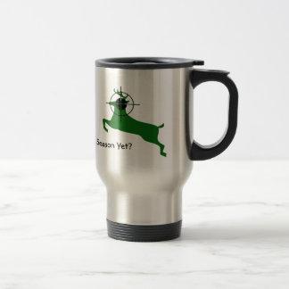 Green Deer Lined Up For Headshot Coffee Mug