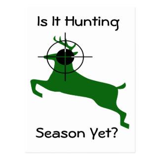 Green Deer Lined Up For Headshot Postcard