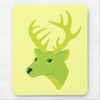 Green Deer Mouse Pad