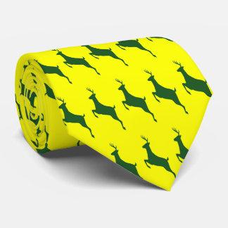 Green Deer Necktie