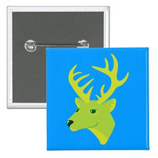 Green Deer Pins