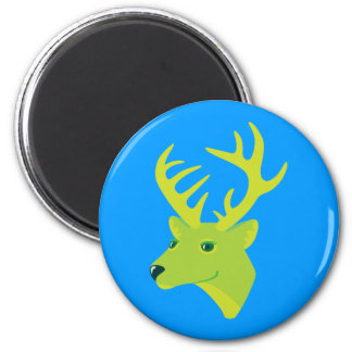 Green Deer Refrigerator Magnet