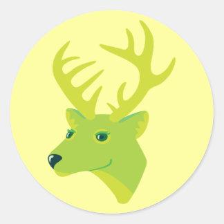 Green Deer Sticker