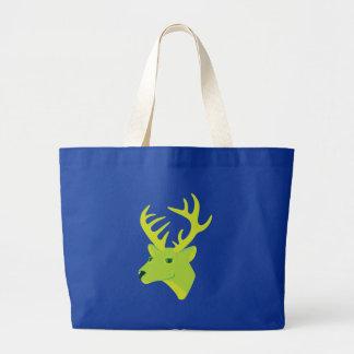 Green Deer Tote Bags