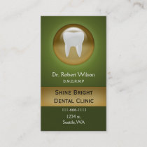 green Dental businesscards with appointment card