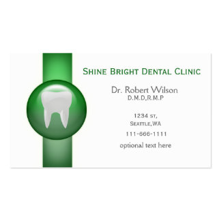 Green Dental businesscards with appointment card Double-Sided Standard Business Cards (Pack Of 100)