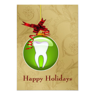 green Dentist Holiday Cards