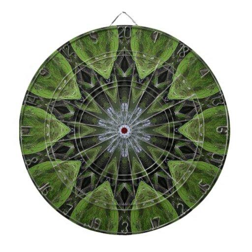 Green designed dart board dart boards