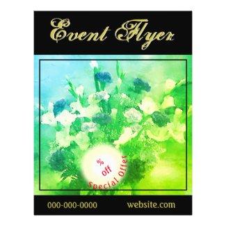 Green Designer Frames Template Event Flyer