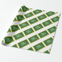 Green Desk Wrapping Paper