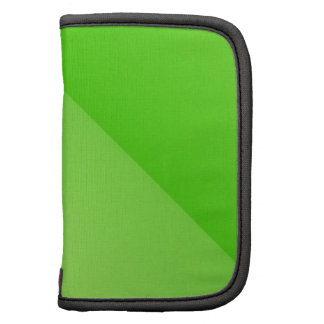 Green Diagonal Design Folio Planner