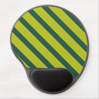 Green Diagonal Stripe Gel Mousepads