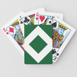 Green Diamond, Bold White Border Bicycle Playing Cards