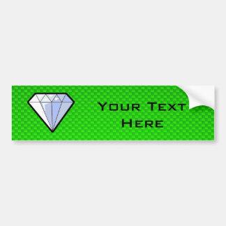Green Diamond Bumper Sticker