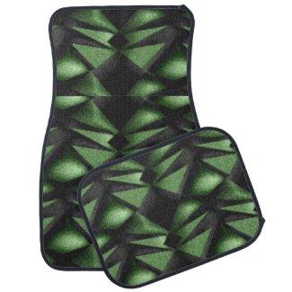 Green Diamond Car Floor Mats