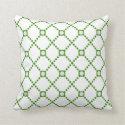Green Diamond Circle Pillow